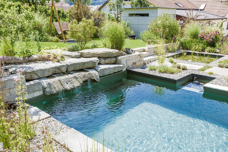 Natur pool fertigbecken naturpool 2 media for Pool design gmbh